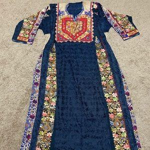 Dresses & Skirts - Palestinian dress henna thobe arabic maxi
